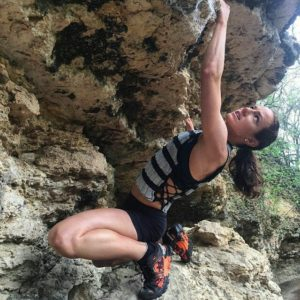 rock climbing with weight vest